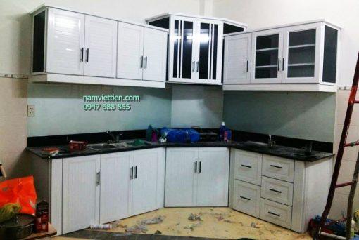 Tủ bếp nhôm kính nam việt tiến tphcm