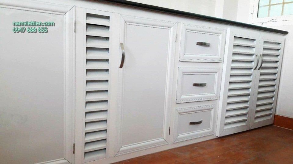 tủ bếp sơn tĩnh điện hà nội