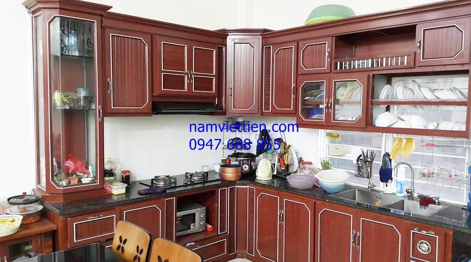 Tủ bếp nhôm vân gỗ giá rẻ tphcm
