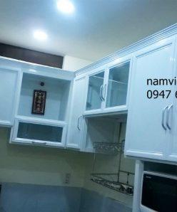 tu bep nhom kinh gia re hcm 248x298 - Tủ bếp nhôm kính trắng sữa