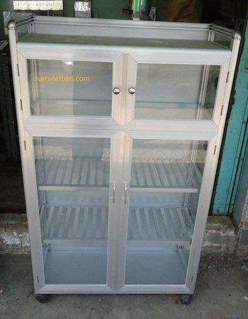 DSC01665 - Các loại tủ đựng chén nhôm kính giá rẻ