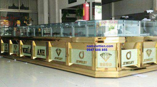 thiet ke tu trung bay vang bac gia re hcm 510x284 - Tủ bán vàng bằng nhôm kính đẹp