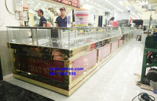 tu ban vang bac cao cap inox tphcm 511x331 - Cửa hàng làm tủ bán vàng nhôm kính cao cấp