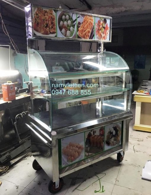 tủ inox bán cơm cao cấp
